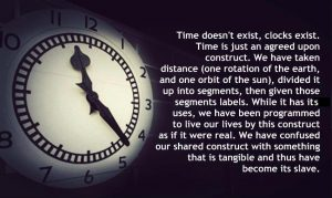 Time does not exist - you are not special